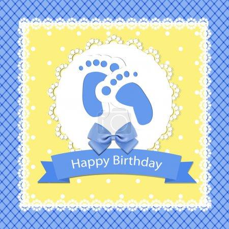 Illustration pour Carte d'arrivée bébé. Illustration vectorielle - image libre de droit