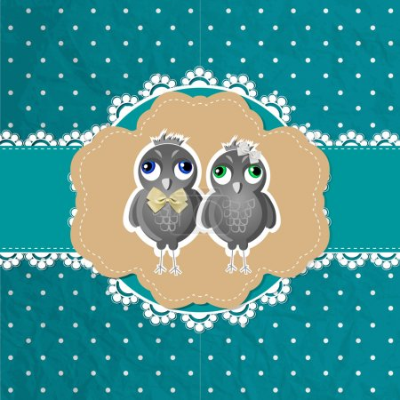 Photo for Vector floral frame with birds - Royalty Free Image