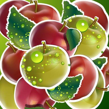 nahtloser Apfelhintergrund. Vektor