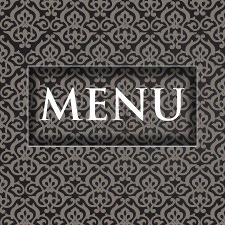 Carte de conception de menu restaurant