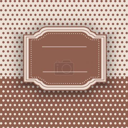 Illustration pour Cadre vintage, illustration vectorielle - image libre de droit