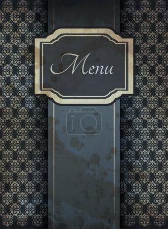 Illustration of retro graphic element for menu