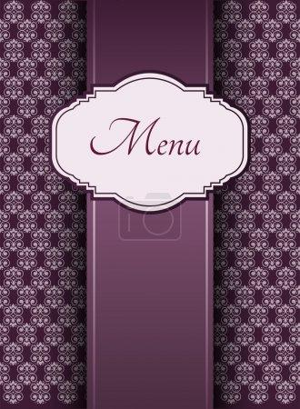 Illustration of a vintage graphic element for menu