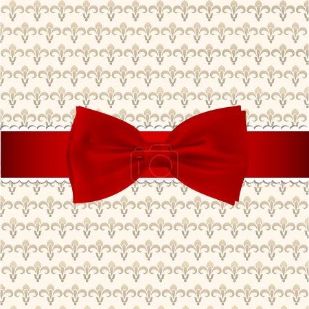 Illustration pour Fond vintage avec arc rouge - image libre de droit