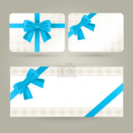 Illustration for Gift cards and certificate - Royalty Free Image