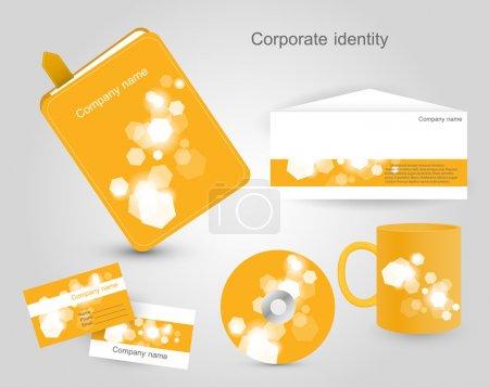 Illustration pour Identité d'entreprise, illustration vectorielle - image libre de droit