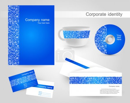 Illustration pour Vecteur d'identité d'entreprise, illustration vectorielle - image libre de droit