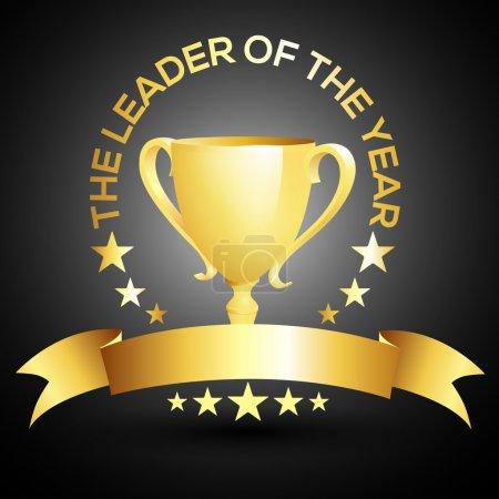 Vector leader trophy icon