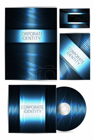 Professional corporate identity kit or business kit with artistic, your business includes CD Cover, Business Card, Envelope and Letter