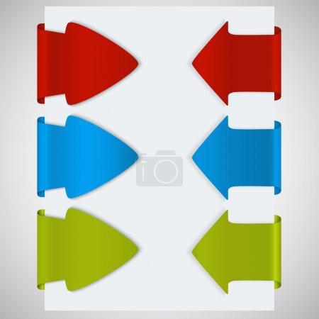 Illustration pour Livre blanc avec flèche. Illustration vectorielle . - image libre de droit
