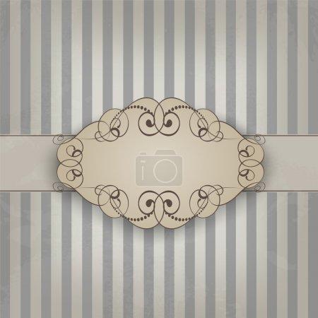 Illustration for Vintage texture on brown blue background - Royalty Free Image