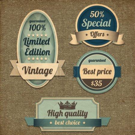 Illustration pour Design vintage rétro fond brun de haute qualité - image libre de droit