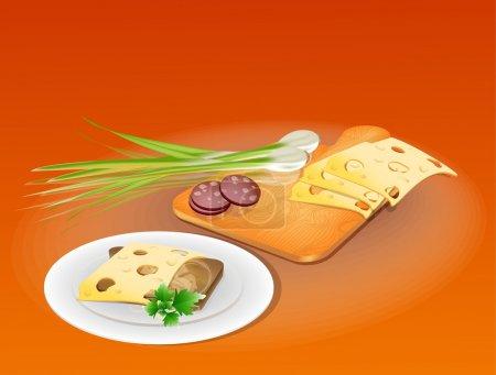 Illustration pour Illustration sandwich, illustration vectorielle - image libre de droit