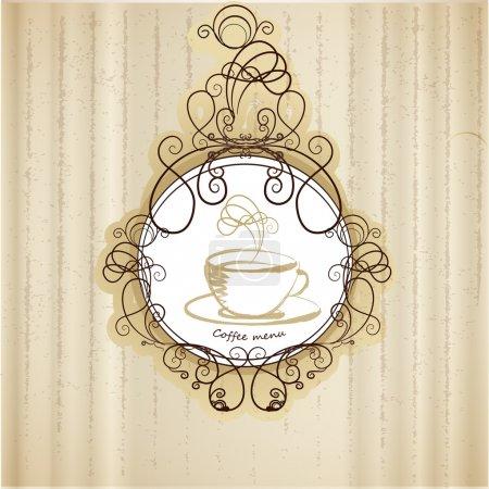 Illustration pour Menu café rétro, illustration vectorielle - image libre de droit