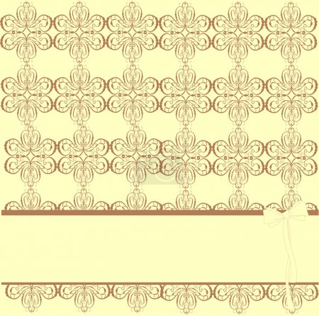 Illustration for Romantic yellow scrapbooking, vector illustration - Royalty Free Image
