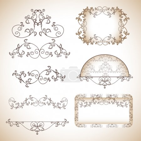 Photo for Scrapbook template, vector illustration - Royalty Free Image