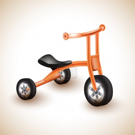 Cute and colorful kids tricycle.