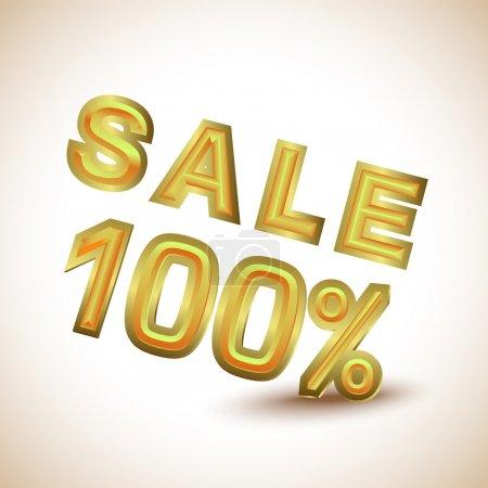 Sale 100 percent, vector illustration