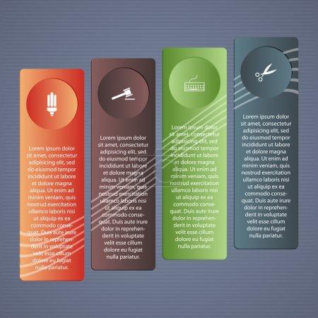 Illustration pour Illustration vectorielle conceptuelle avec dossiers et place pour votre texte. Pour différentes conceptions d'entreprise - image libre de droit