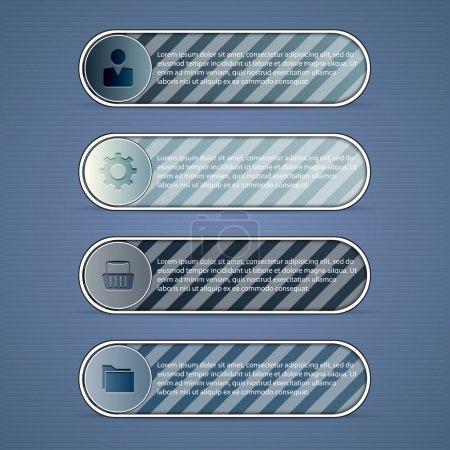 Illustration pour Étiquettes grises sur fond gris. illustration vectorielle - image libre de droit