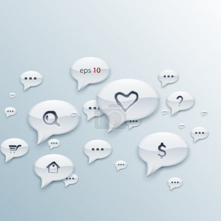chat bubbles signs. vector