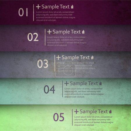Illustration pour Bannières d'option de nombre coloré - image libre de droit