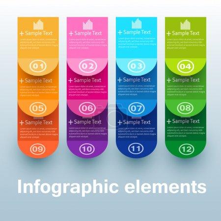 Photo pour Bannières d'option de nombre coloré - image libre de droit