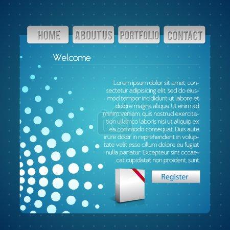 Illustration for Blue website design template - Royalty Free Image