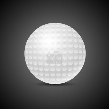 Golfball auf schwarzem Hintergrund