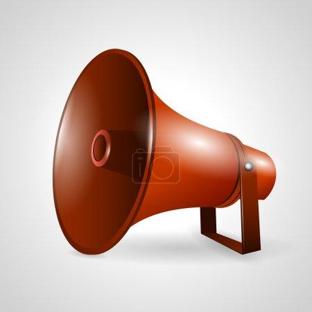 Illustration pour Haut-parleur ou mégaphone isolé sur fond blanc - image libre de droit