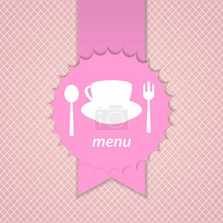 Pink frame menu design template