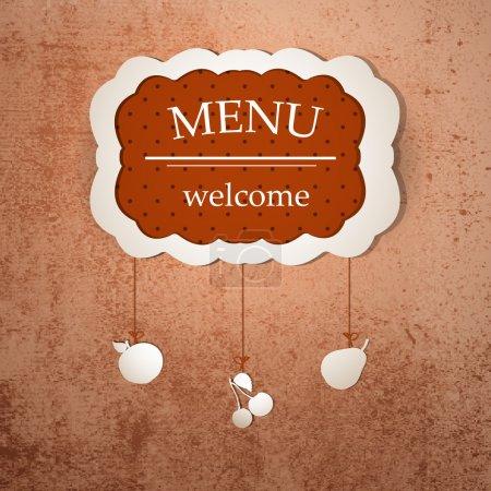 Vintage frame menu design template