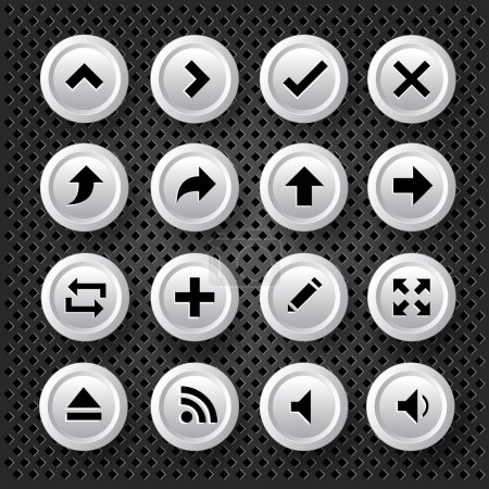 Arrows Icons Set, vector illustration