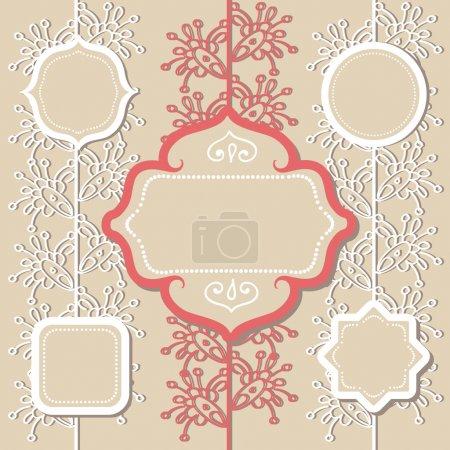 Illustration pour Différents cadres vintage, illustration vectorielle - image libre de droit