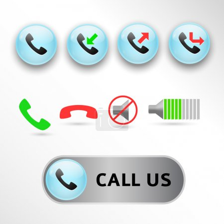 Vector call icons, vector illustration