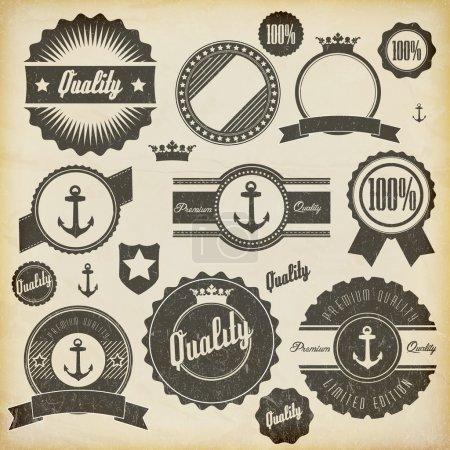 Illustration for Vintage premium quality labels - Royalty Free Image