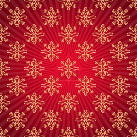 Red background with sunburst