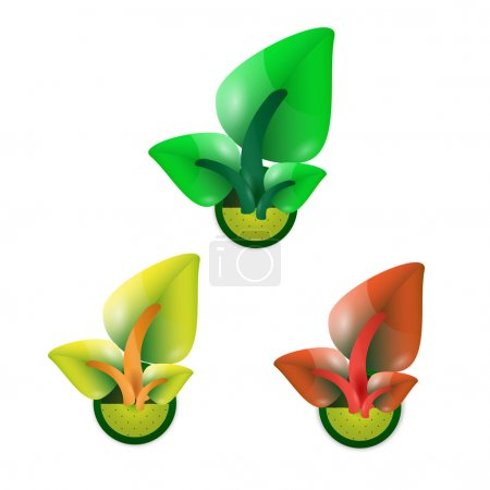 Leaves concept. Vector illustration