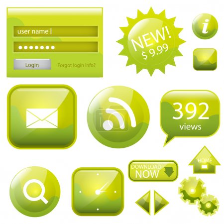 Illustration for Web site vector icons set - Royalty Free Image