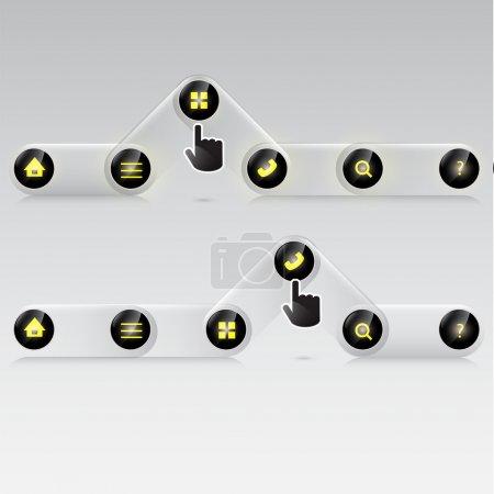 Illustration pour Ensemble d'icônes vectorielles de site Web - image libre de droit