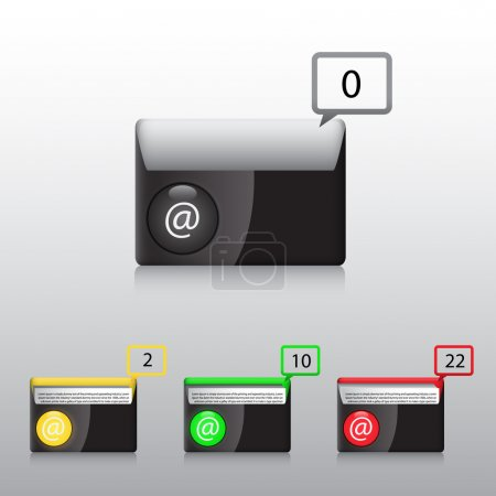 Photo for Set vector e mail icon - Royalty Free Image