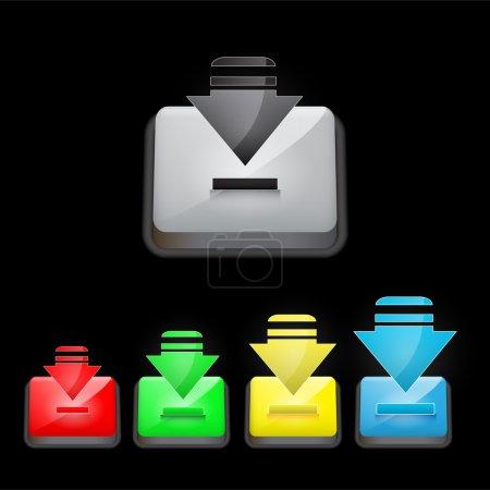 Illustration pour Télécharger des boutons. Illustration vectorielle . - image libre de droit
