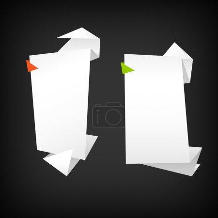 Illustration pour Origami abstrait fond vectoriel - image libre de droit