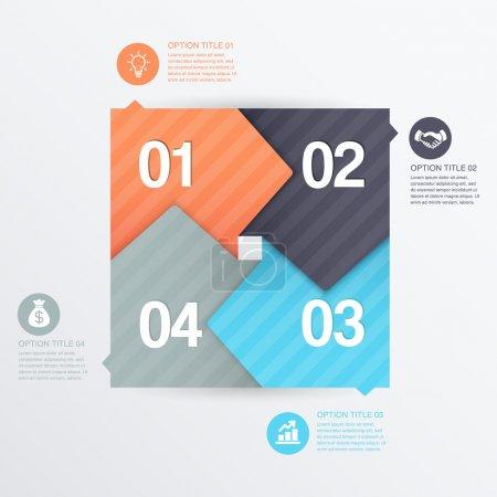 Illustration pour Étapes processus flèches illustration vectorielle - image libre de droit