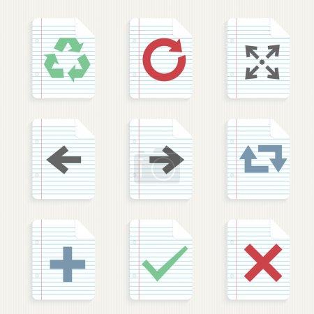 Illustration pour Icônes flèches ensemble illustration vectorielle - image libre de droit