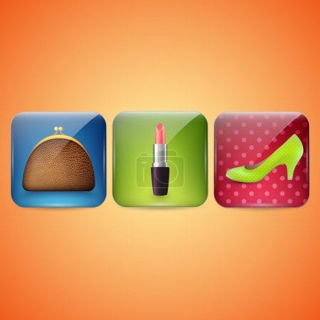 Cosmetic Industry and beauty icons. Vector illustration