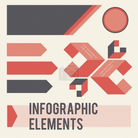 Elementos infográficos. ilustración vectorial