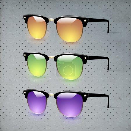 Illustration pour Collection de lunettes illustration vectorielle - image libre de droit