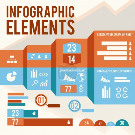 Illustration for Business infographic elements vector illustration - Royalty Free Image