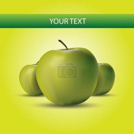 Green Apples Label. Vector Illustration